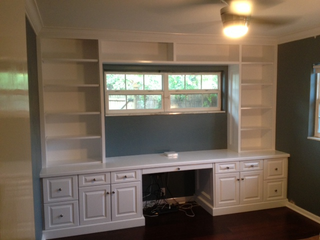 Tampa Florida Custom Carpentry Work Built In Bookcase